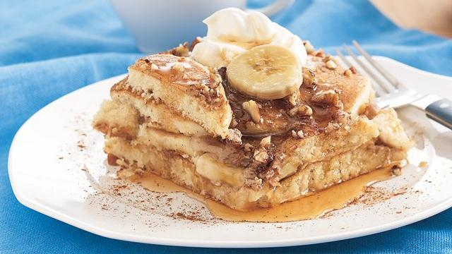 Banana Pecan Pancake Bake