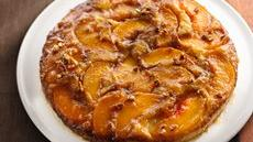 Caramelized Peach Upside-Down Coffee Cake Recipe