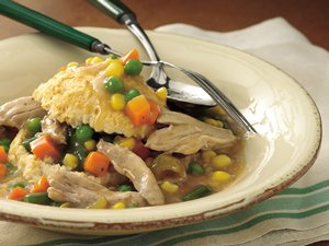 Slow&#32;Cooker&#32;Upside-Down&#32;Chicken&#32;Pot&#32;Pie
