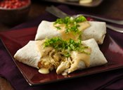 Slow Cooker Cheesy Chicken Sour Cream Burritos