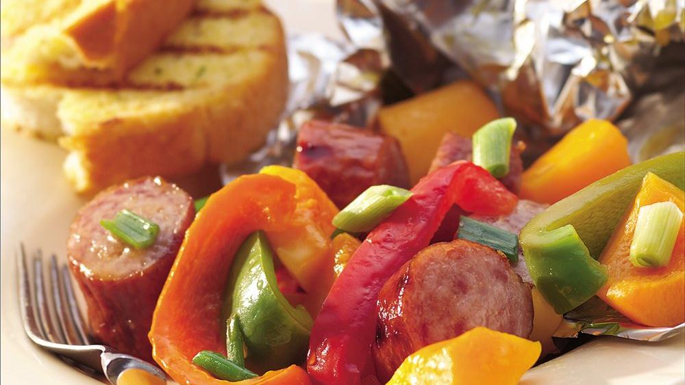 Grilled Maple Sausage and Butternut Squash Packs