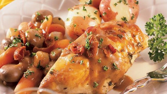Slow Cooker Chicken in Wine Sauce