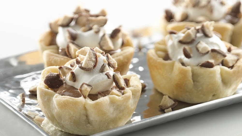 Mini Malted Milk French Silk Pies recipe from Pillsbury.com