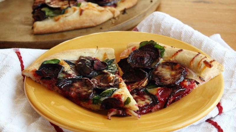 Roasted Beet and White Cheddar Pizza
