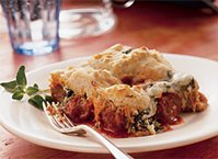 Italian Meatball and Spinach Biscuit Bake