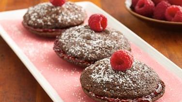 Raspberry-Filled Brownie Delights