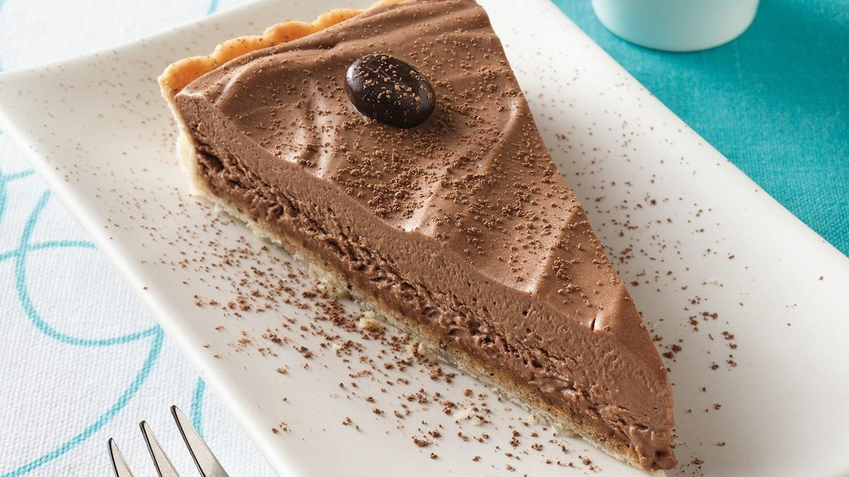 Coffee Crunch Chocolate Tart - Life Made Delicious
