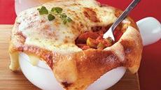 Cheese-Crusted Pizza Pot Pies Recipe