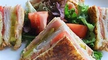 French-Toasted Club Sandwich