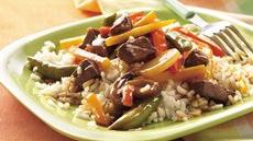 Quick Beef Tips and Vegetables Recipe