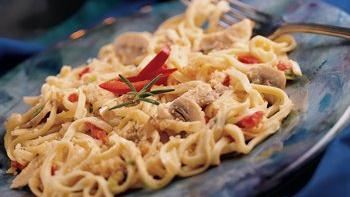 Linguine and Chicken For Two