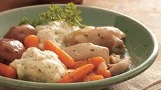 Slow Cooker Chicken and Vegetables with Dumplings Recipe