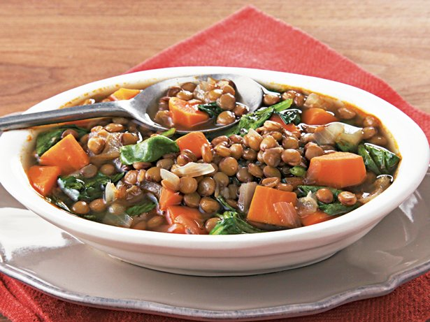 Slow Cooker Lentil and Spinach Soup