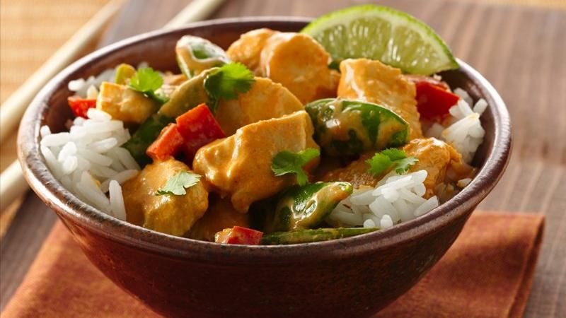 Thai Red Curry Coconut Chicken recipe from Betty Crocker