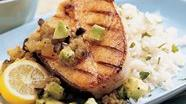 Latin Grilled Halibut with Green Sauce