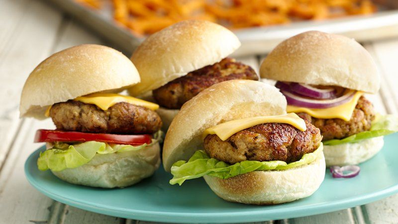 Turkey Cheeseburger Sliders