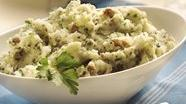 Gluten Free Parsley Smashed Potatoes