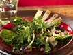 Holiday Salad with Parmesan Fans