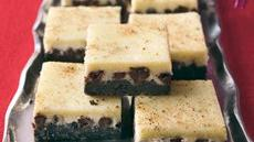 Chocolate-Eggnog Cheesecake Squares  Recipe