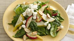 Gluten-Free Pear and Apple Salads with Goat Cheese and Almonds