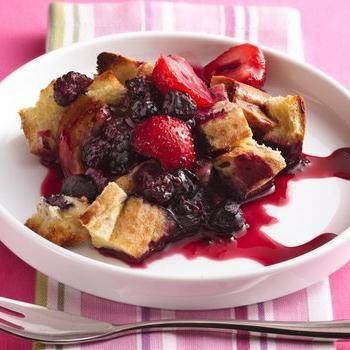 Cream Cheese French Toast Bake with Strawberry Topping recipe from ...
