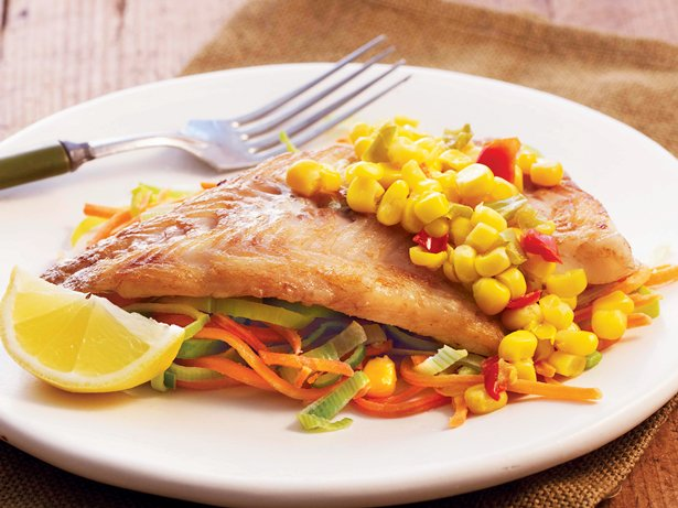 Skillet Fish and Veggies