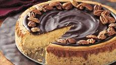 Butter Pecan Cheesecake with Chocolate Glaze Recipe