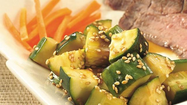 Image of Asian Cucumber-zucchini Salad, Pillsbury