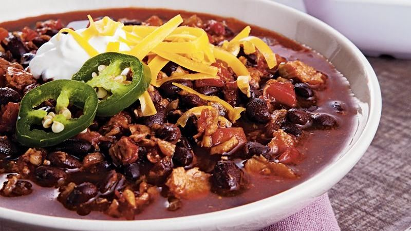 Vegetarian Black Bean Chili recipe from Betty Crocker