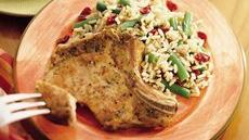 Pork Chops with Rice and Cranberries Recipe