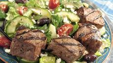 Greek Beef Kabob Salad Recipe