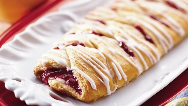 Cherry Cream Crescent Coffee Braid
