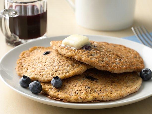 Whole Grain-Rich Kañiwa Lemon Blueberry Burst Pancakes | General ...
