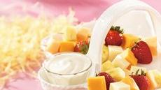 Multi Fruit and Cheese Kabobs with Creamy Dip Recipe