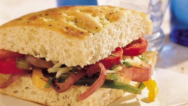 Veggie Focaccia Sandwiches