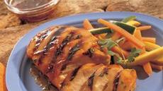 Grilled Apple- and Ginger-Glazed Chicken Breasts Recipe