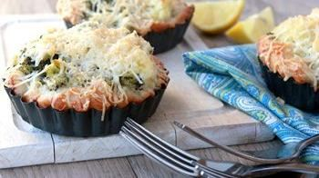 Cheesy Broccoli-Cauliflower Tarts
