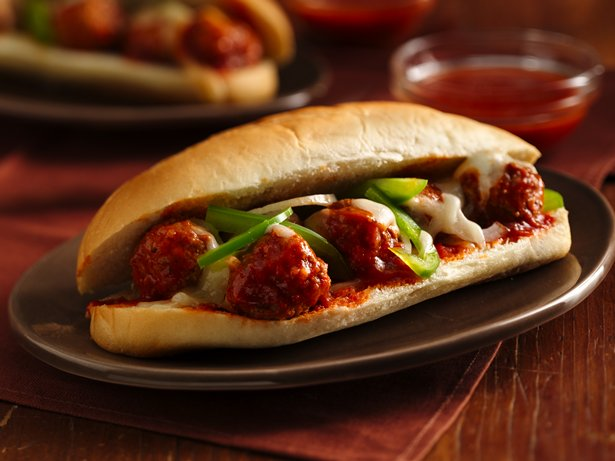 Saucy Meatball Hoagies