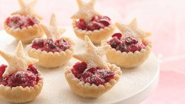 Cranberry Mousse Mini-Tarts