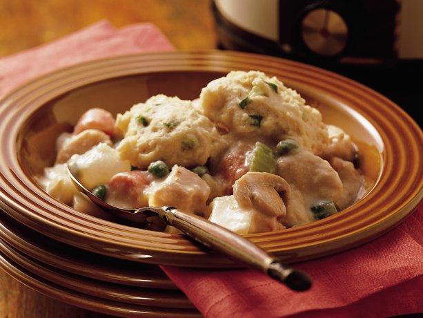 Slow Cooker Chicken Stroganoff Pot Pie