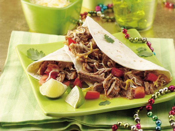 Slow Cooker Green Chile Pork Tacos