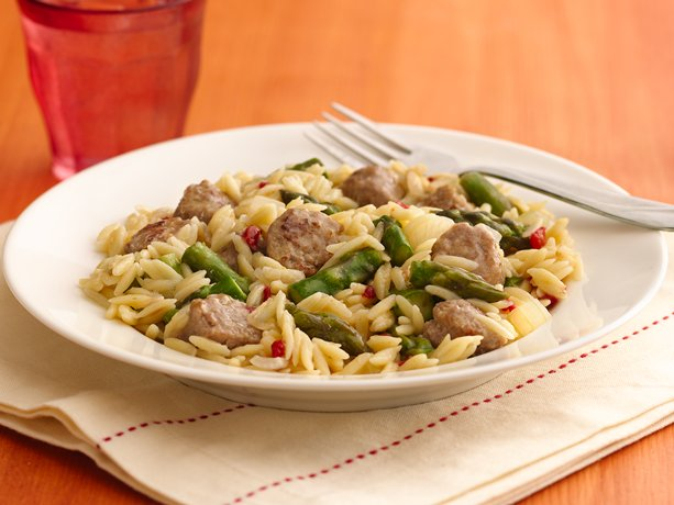 Image of Asparagus And Turkey Sausage Skillet, Betty Crocker