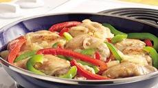Savory Chicken with Peppers Recipe