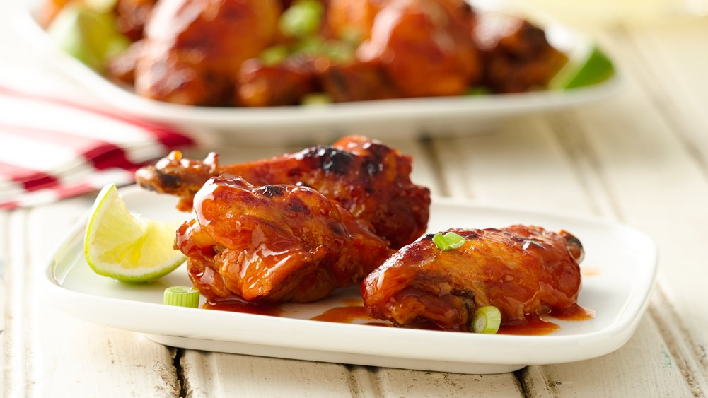 Slow-Cooker Buffalo-Barbecue Chicken Wings recipe from Pillsbury.com