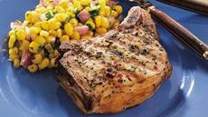 Grilled Pork Chops with Spicy Corn Recipe