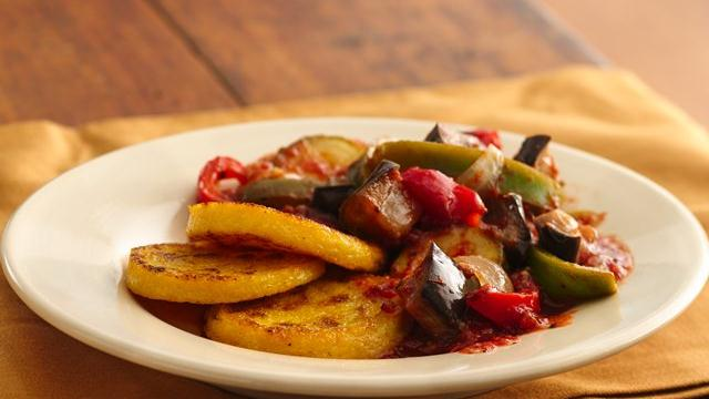 Eggplant Stew with Polenta