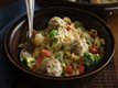 Creamy Orzo Meatball Bowls