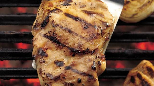 Image of Apricot Glazed Grilled Bbq Chicken Thighs, Pillsbury