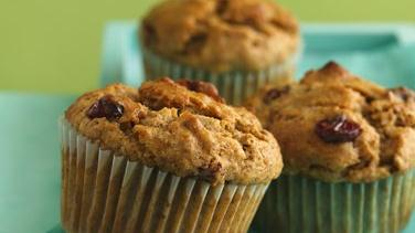 Banana-Cranberry Spice Muffins