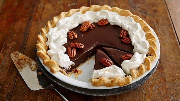 chocolate truffle pie enjoy this chocolate and pecan pie baked using ...